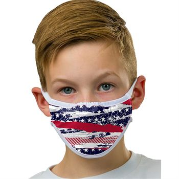 3-Ply Sublimated American Flag Mask - Blank