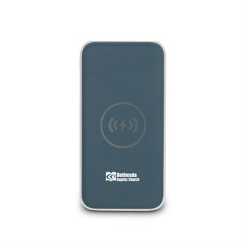 8,000 mAh Wireless Charging Power Bank - Personalization Available
