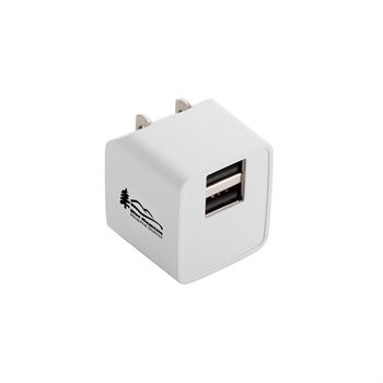 Dual USB Ports Wall Charger - Personalization Available