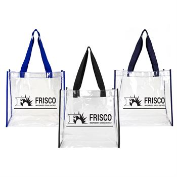 Basic Clear Open Tote-Personalization Available