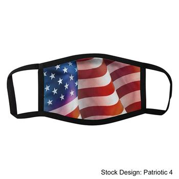 Patriotic Dye Sublimated 3-Layer Face Mask