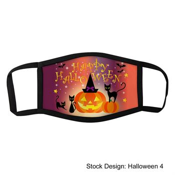 Halloween Dye Sublimated 3-Layer Face Mask
