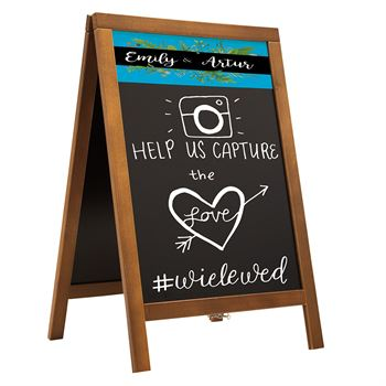Economy Wood A-Frame Chalkboard Kit-Personalization Available
