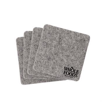 Linden Recycled Felt Coasters - Set of 4 - Personalization Available