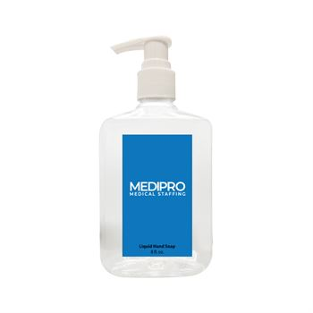 8 Oz. Antibacterial Liquid Hand Soap - Full Color Personalization Available