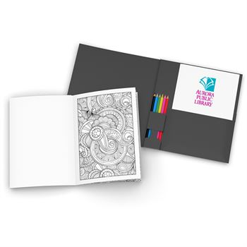 Stress Relief KolorKit Coloring Book - Full Color Personalization Available