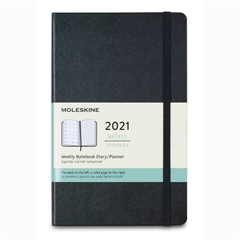Moleskine Hard Cover Large 12-Month Weekly 2021 Planner - Personalization Available