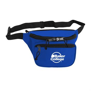 600D Polyester Two Pocket Fanny Pack-Personalization Available