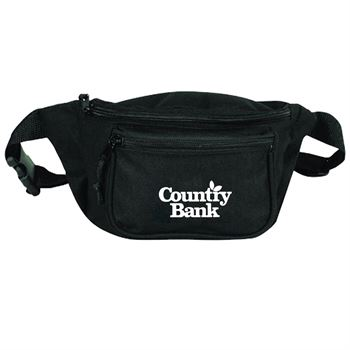 Poly Three Zipper Fanny Pack-Personalization Available