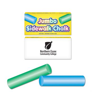 Two Pack Round Jumbo Sidewalk Chalk - Personalization Available