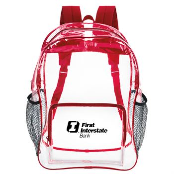 Clear backpack-Personalization Available