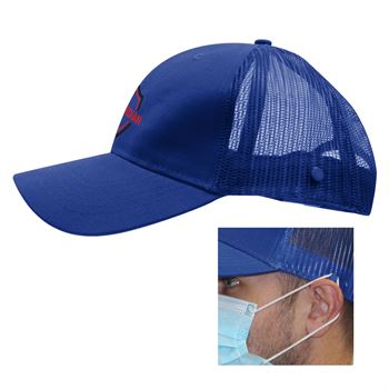 Cotton Twill Mesh Back Mask Cap - Personalization Available