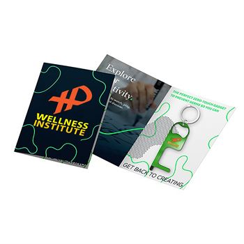 Greeting Card with Stainless Steel Stylus and Bottle Opener - Personalization Available