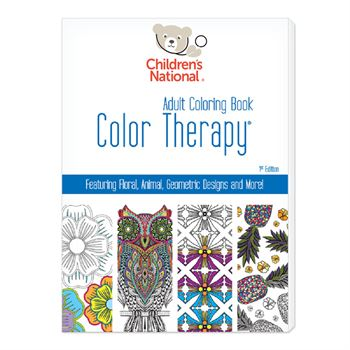 Color Therapy 24 page adult coloring book-USA Made