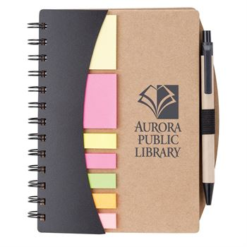 Broome Mini Journal with Pen, Flags and Sticky Notes-Personalization Available