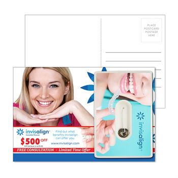 Post Card with Credit Card Style Dental Floss with Mirror - Personalization Available
