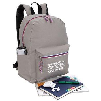 Tri-Color Zipper Backpack