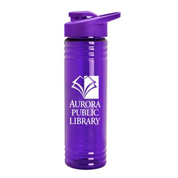 Slim Fit Water Bottles with Drink Thru Lid 24 oz.-Personalization Available