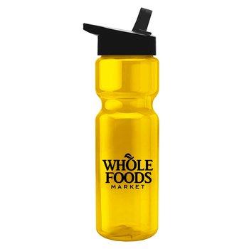 Transparent Bottle Flip Straw Lid 28 oz.-Personalization Available