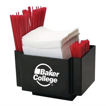 Napkin Caddy/Holder with Side Straw Pockets-Personalization Available