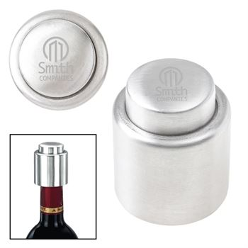 Stainless Steel Vacuum Wine Stopper-Personalization Available