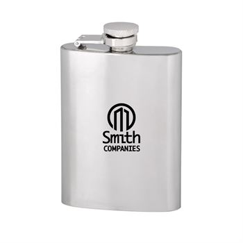 Slim Stainless Steel Hip Flask 4 oz.- Personalization Available