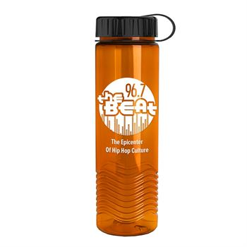 Tritan Wave Bottle with Tethered Lid - 24oz-Personalization Available