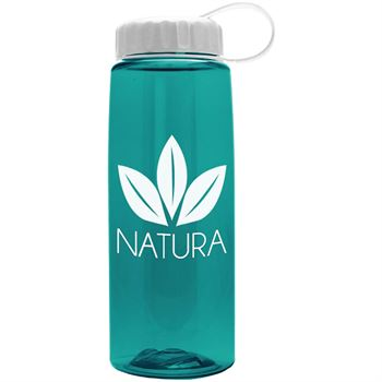 Tritan Flair Bottle With Tethered Lid - 26 Oz.-Personalization Available