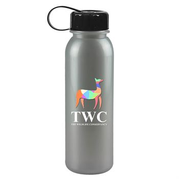 Digital Metalike Tritan Bottle With Tethered Lid - 24 Oz.-Personalization Available