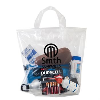 Crystal Clear Soft Loop Shopper Bag-Personalization Available