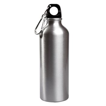 Aluminum Water Bottle With Carabiner 17-Oz. - Blank