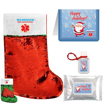 Santa's Stocking Set - Full Color Personalization Available