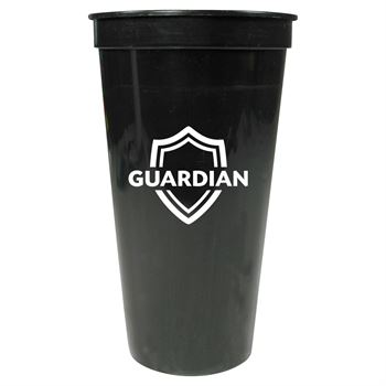 Solid 24 oz. Stadium Cup-Personalization Available