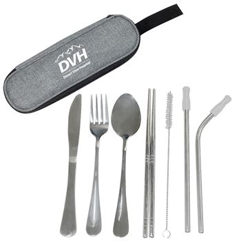 Stainless Steel Cutlery Set in Pouch- Personalization Available