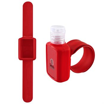 .5 Oz Hand Sanitizer with Slap Wristband - Full Color Personalization Available