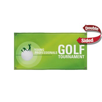 18 Oz. Vinyl Banner (Double-Sided) - 4' x 8' - Full Color Personalization Available