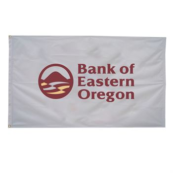 Nylon Flag (Single-Sided) - 3' x 5' - Full Color Personalization Available