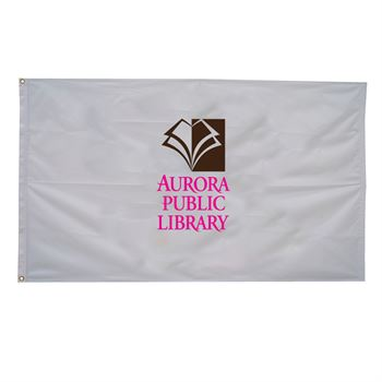 Nylon Flag (Single-Sided) - 4' x 6' - Full Color Personalization Available