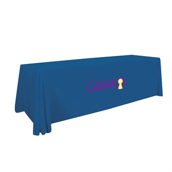 8' LazerLine 3-Sided Throw Full-Color Front Only-Personalization Available