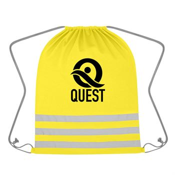 Reflective Safety Drawstring Bag-Personalization Available
