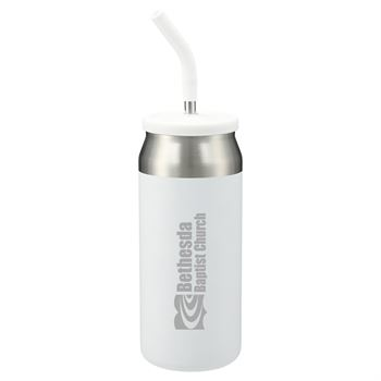 Gusto Stainless steel Tumbler with SS Straw - 23 oz - Personalization Available