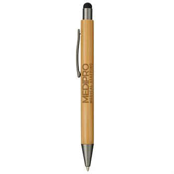 Bamboo Quick-Dry Gel Ballpoint Stylus Pen -�Personalization Available
