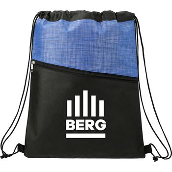 Cross Weave Zippered Drawstring Bag -�Personalization Available