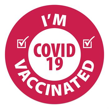 I'm Vaccinated Stickers - Roll of 1000