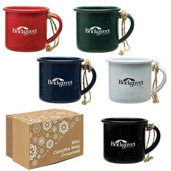 Mini Campfire Mug Ornament - Personalization Available