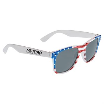 American Flag Sun Ray Sunglasses- Personalization Available