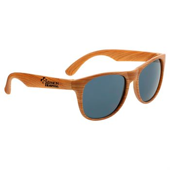 Miami Bamboo Tone Sunglasses- Personalization Available
