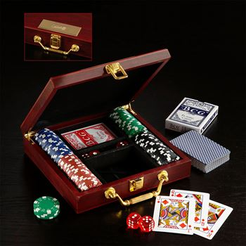 Wooden Box Poker Set- Personalization Available