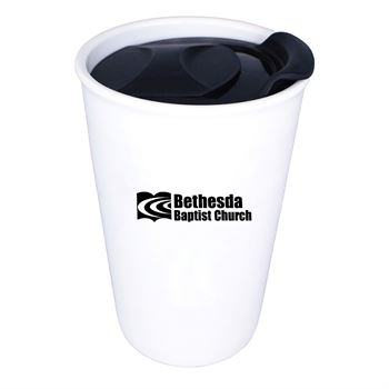 Double Wall Ceramic Tumbler 11 oz.-Personalization Available