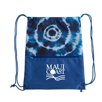 Tie Dye Drawstring Bag - Personalization Available